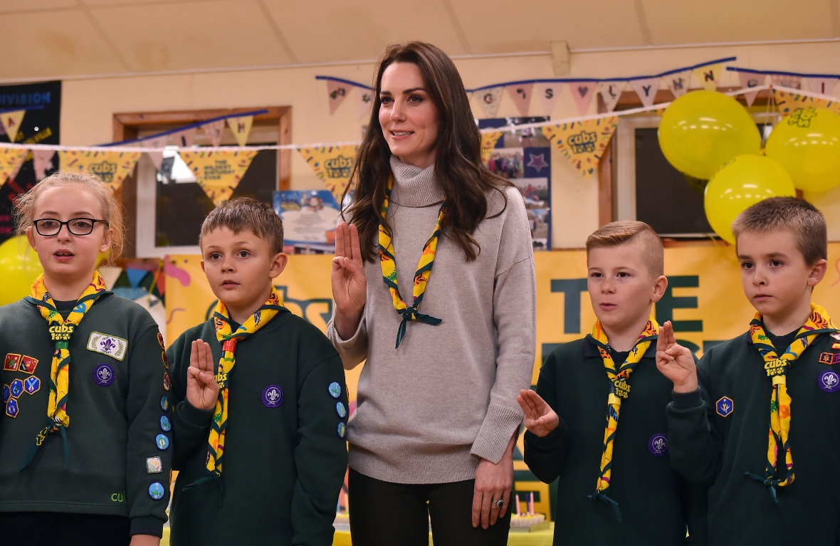 kate middleton cub scouts getty images