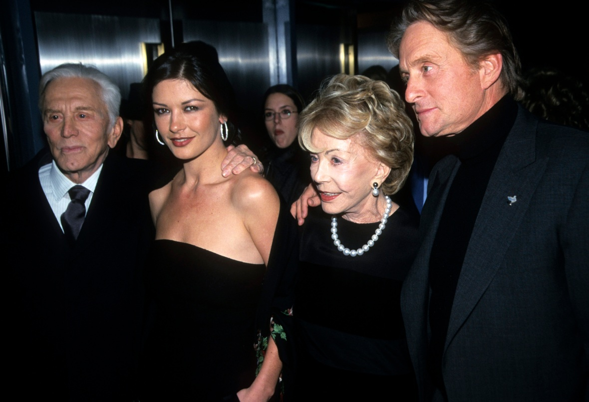 kirk douglas family getty images