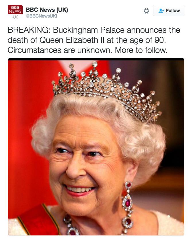 queen elizabeth twitter