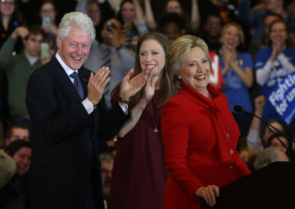 chelsea clinton hillary clinton bill clinton getty images