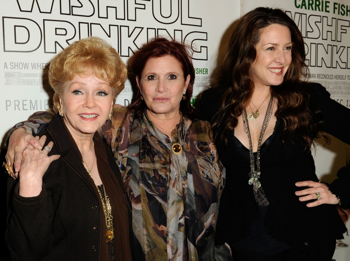 debbie reynolds carrie fisher joely fisher getty images