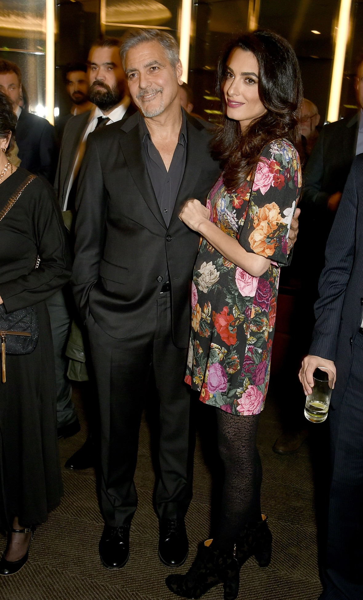 amal clooney baby bump getty images