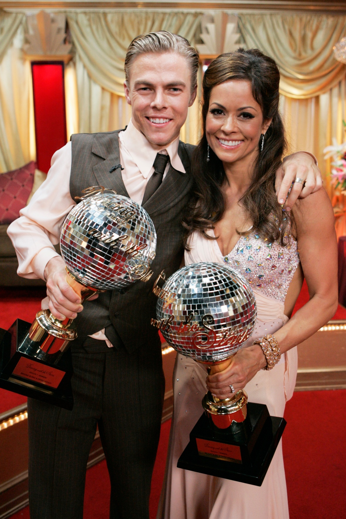 brooke burke-charvet derek hough getty images