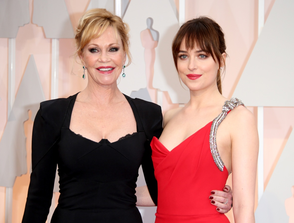 melanie griffith dakota johnson getty images