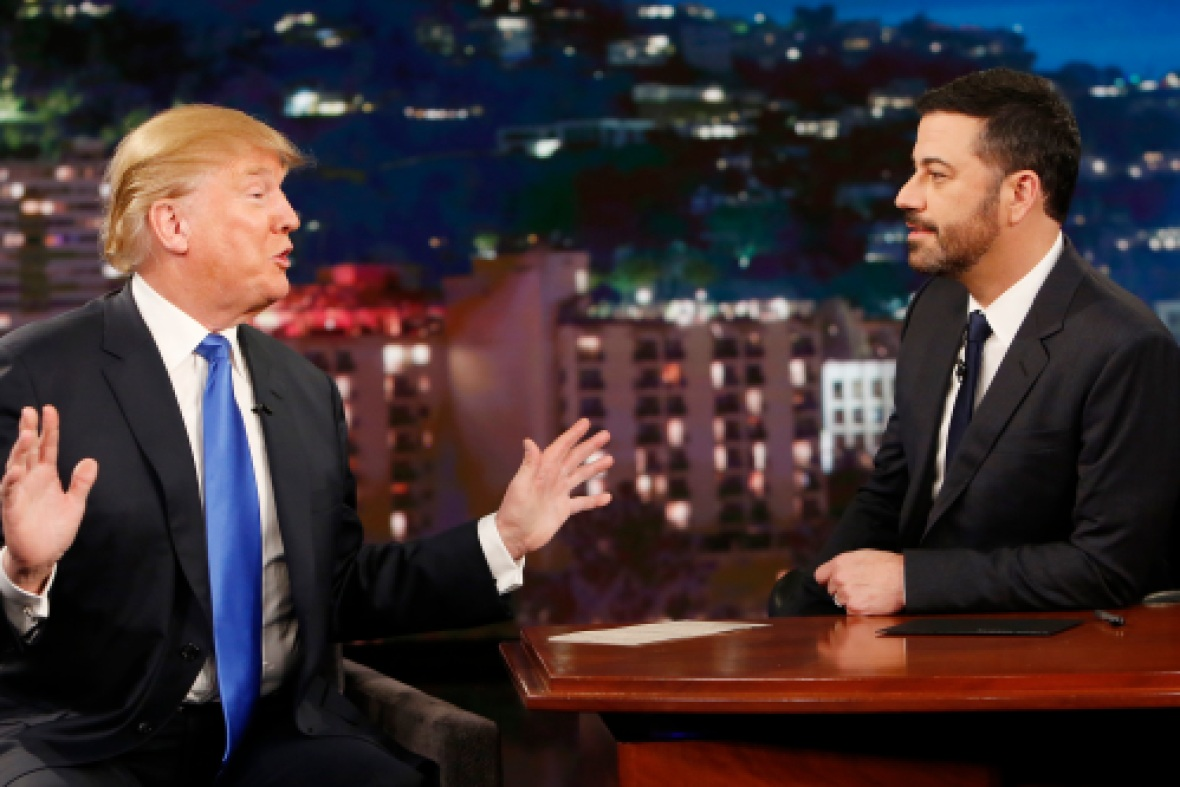 donald trump jimmy kimmel getty images