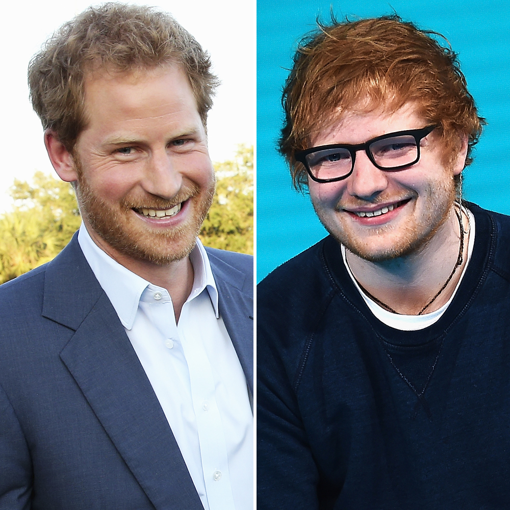 prince harry ed sheeran getty images