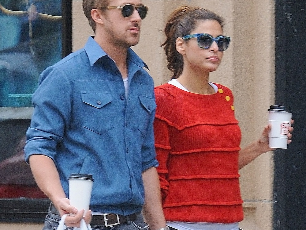 ryan gosling eva mendes splash