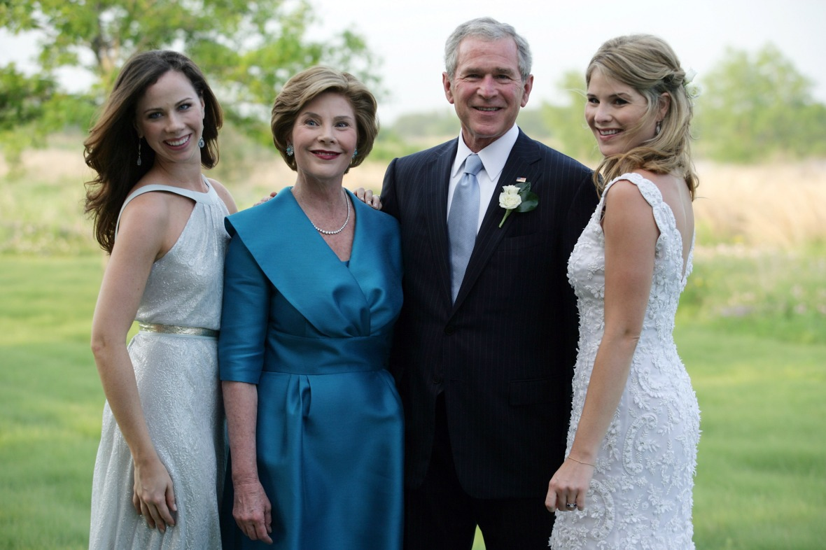 the bush family getty images