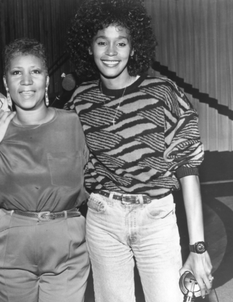 aretha franklin whitney houston getty images
