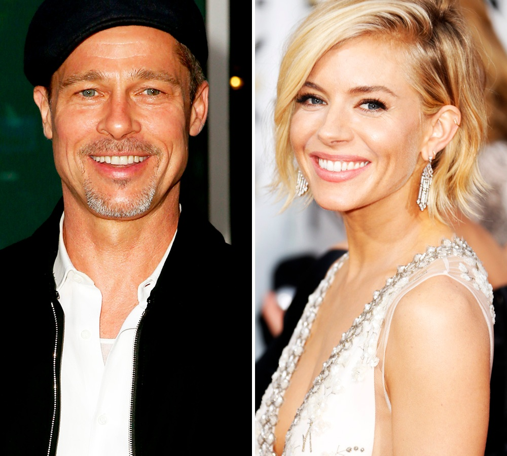 brad pitt sienna miller getty images