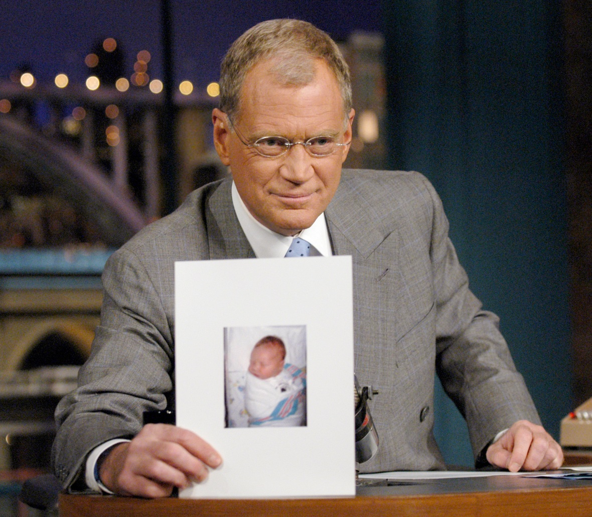 david letterman son getty images