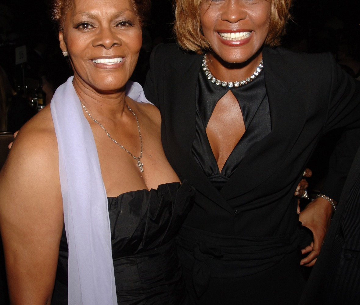 dionne warwick whitney houston getty images
