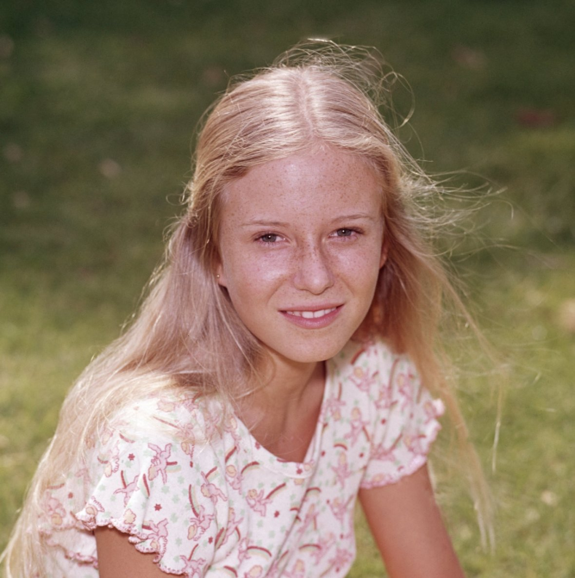 eve plumb 'the brady bunch' getty images