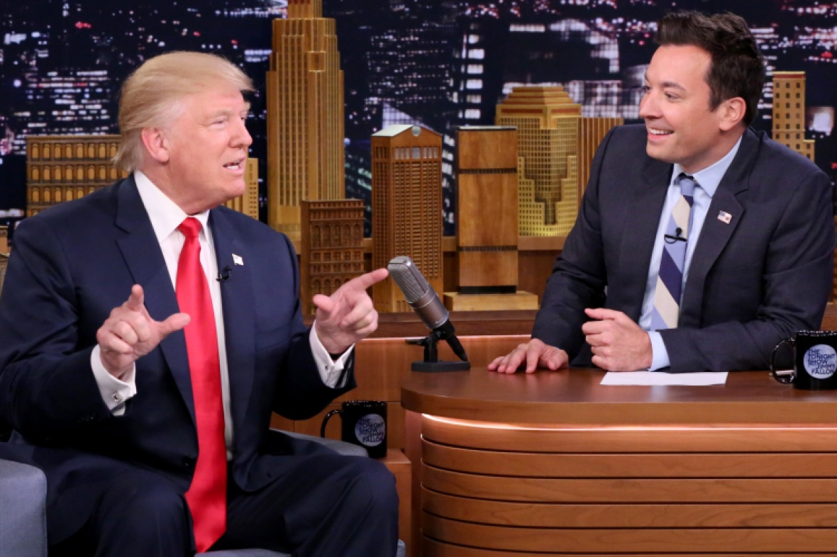 jimmy fallon and donald trump interview - getty