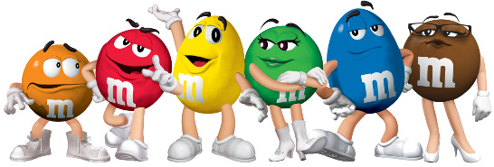 m&ms characters r/r