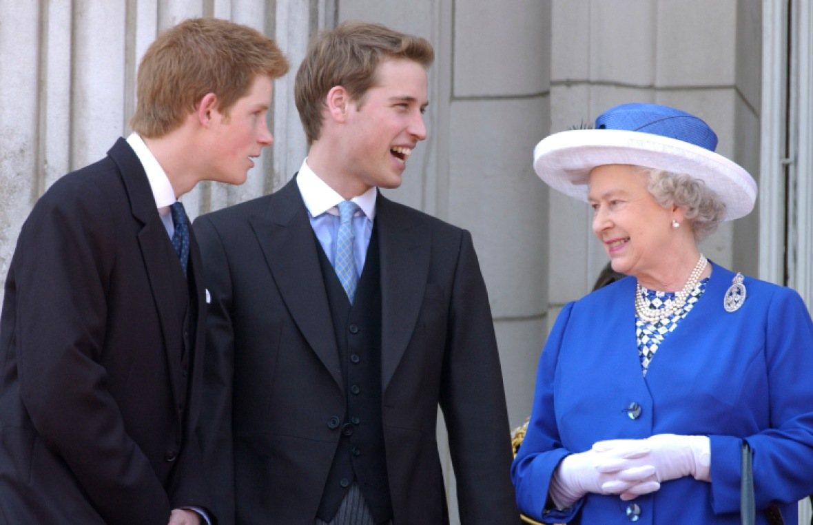 prince harry prince william queen elizabeth getty images