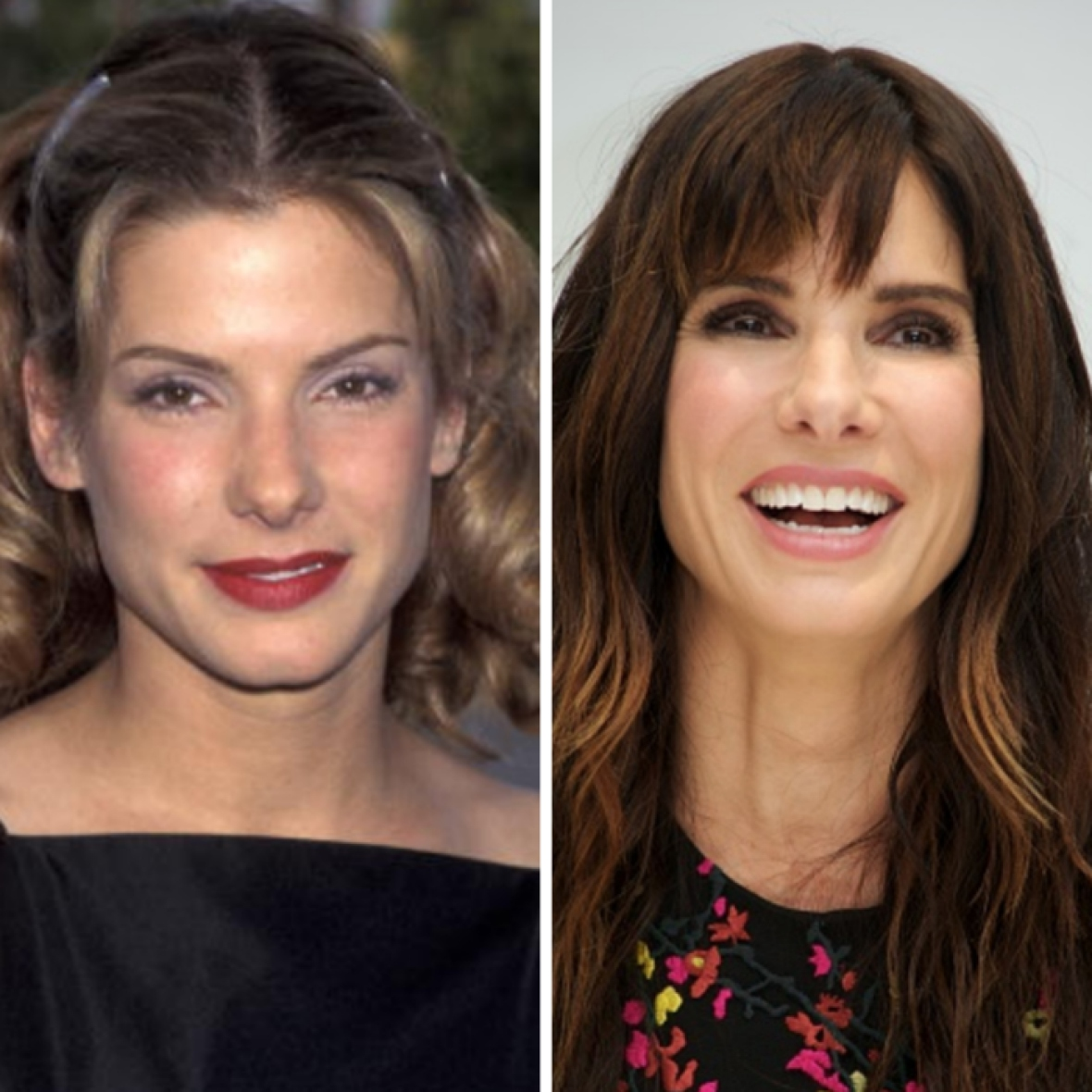 sandra bullock then and now getty