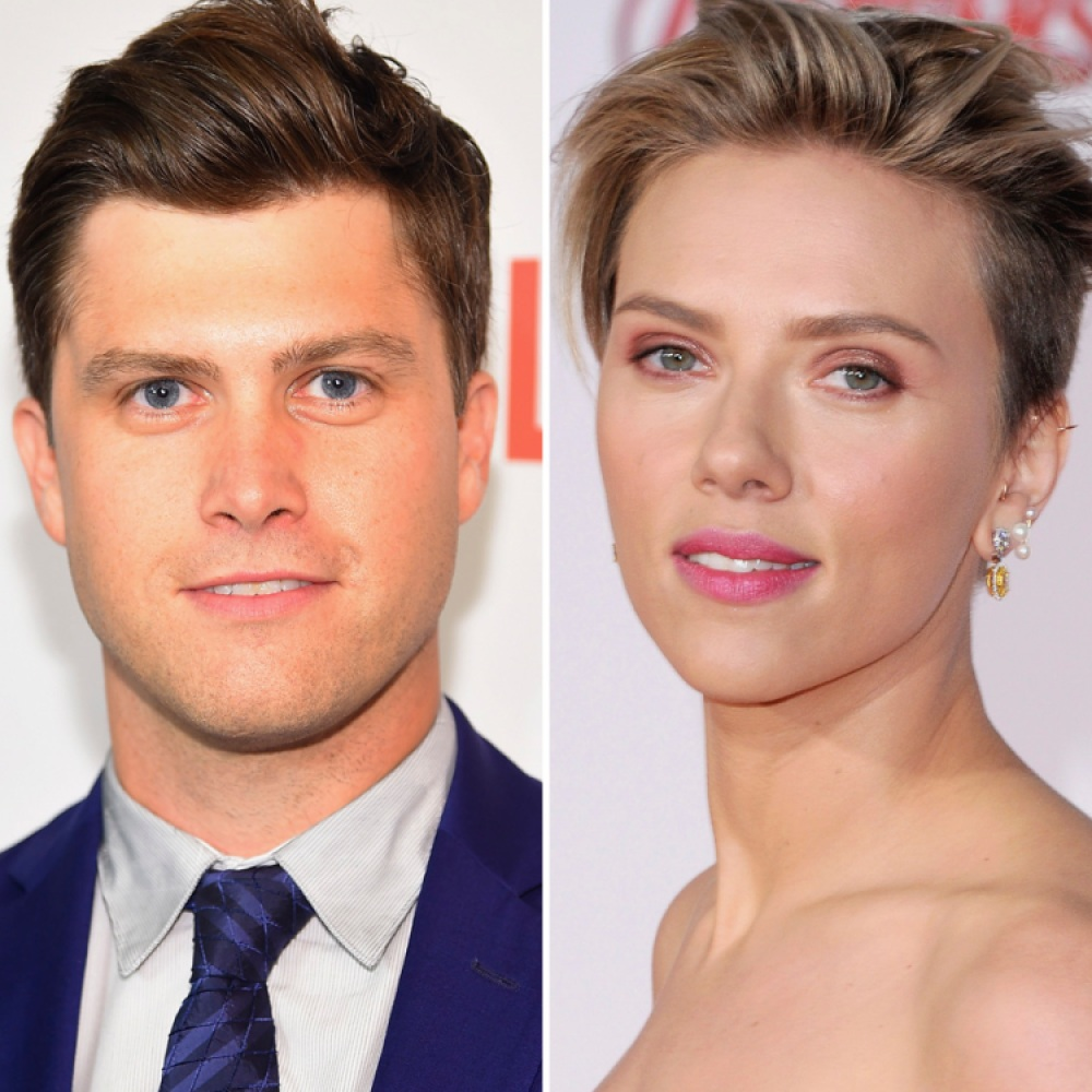 scarlett johansson colin jost getty images
