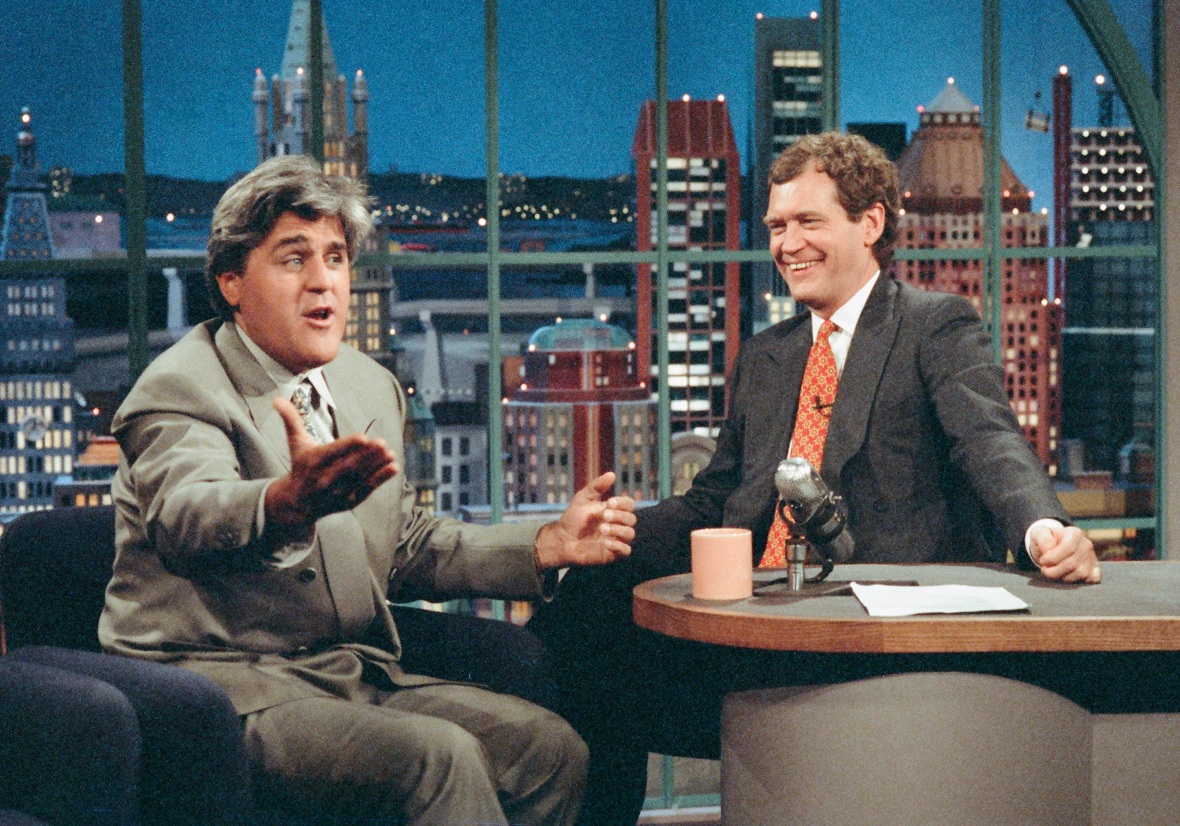 david letterman jay leno getty images