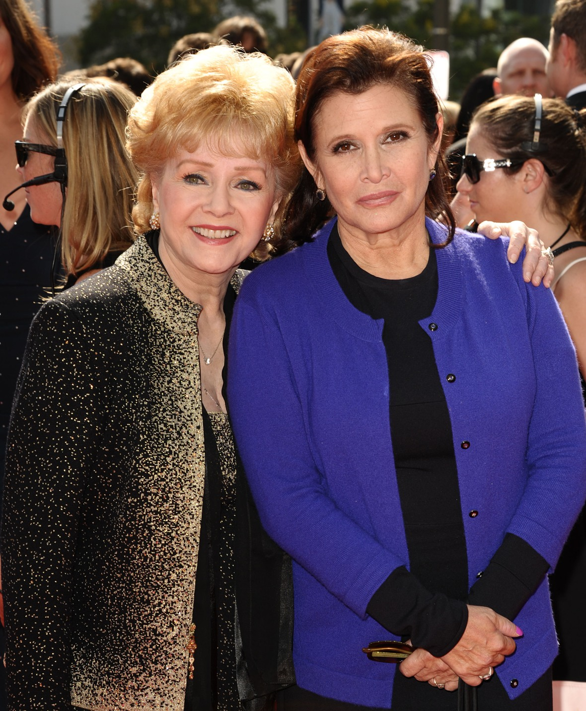 debbie reynolds carrie fisher getty images