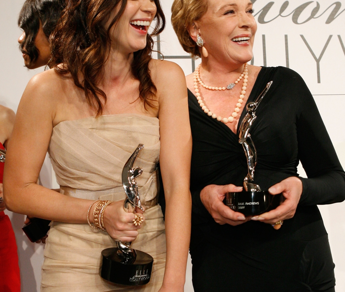 julie andrews emily blunt getty images