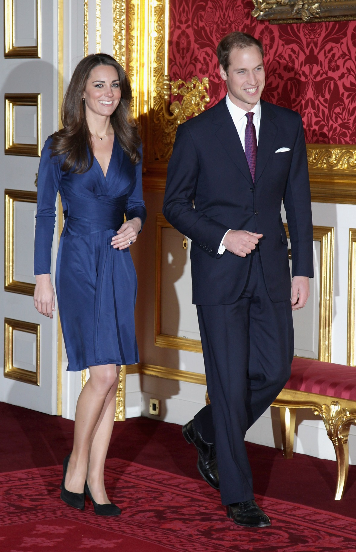 kate middleton engagement dress getty images