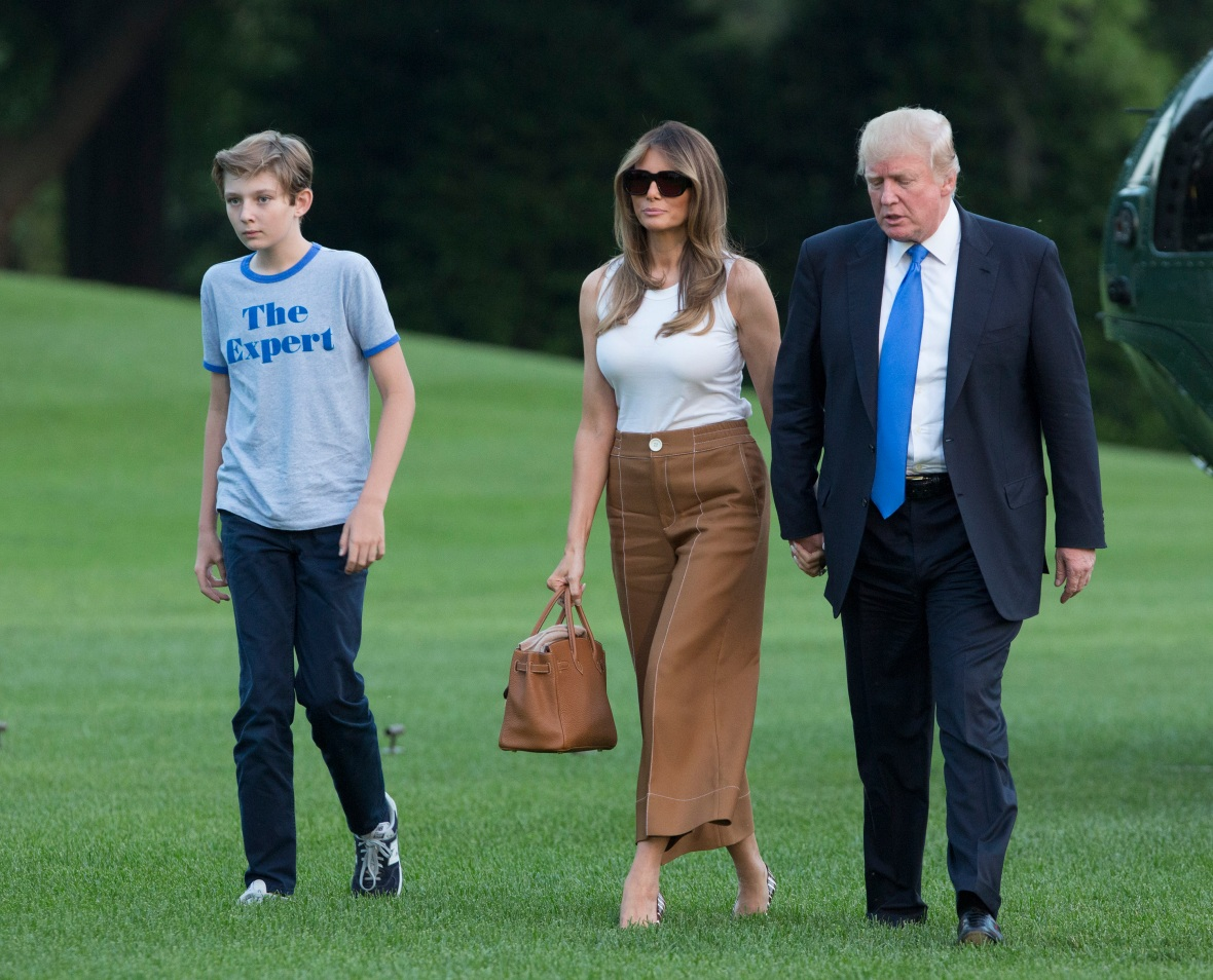 melania trump family getty images
