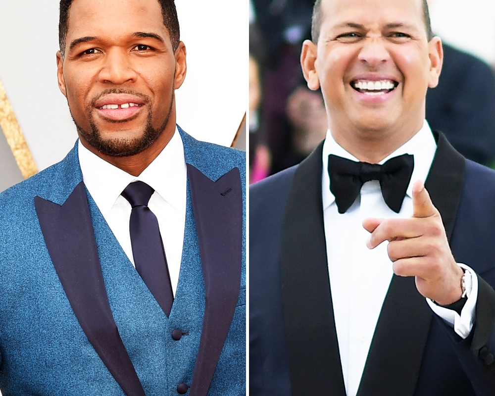 michael strahan alex rodriguez getty images