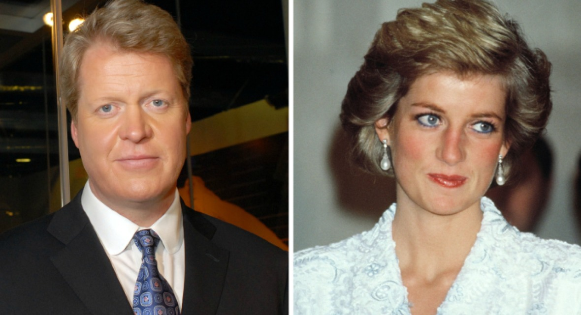 charles spencer and princess diana - getty