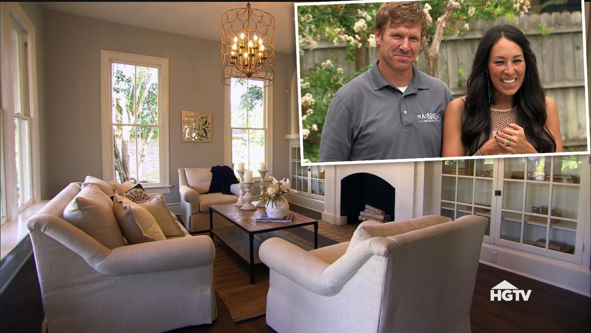 Fixer Upper Living Room Transformation Before And After