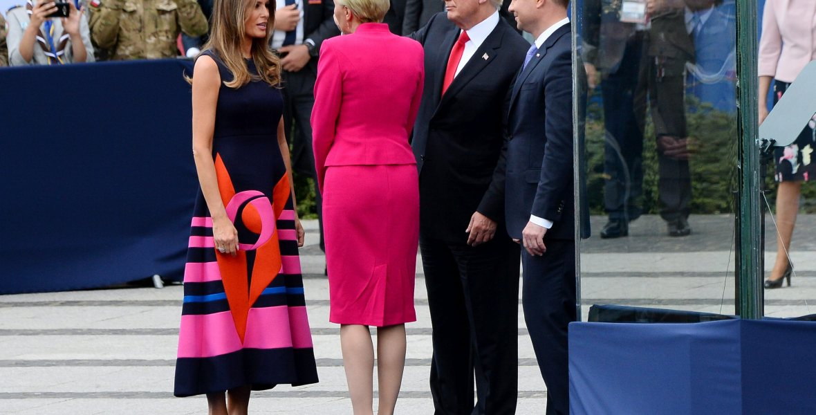 donald trump poland first lady getty images
