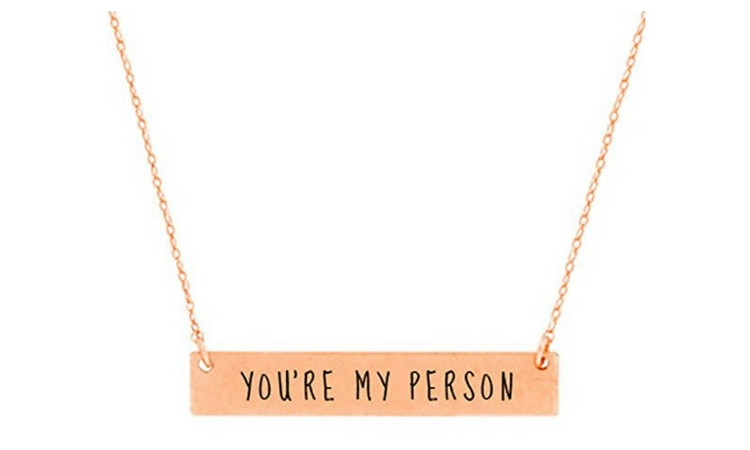 "grey's ""you're my person"" necklace"