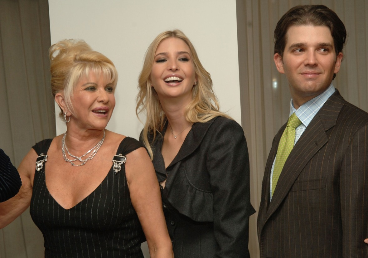 ivana ivanka and donald trump jr