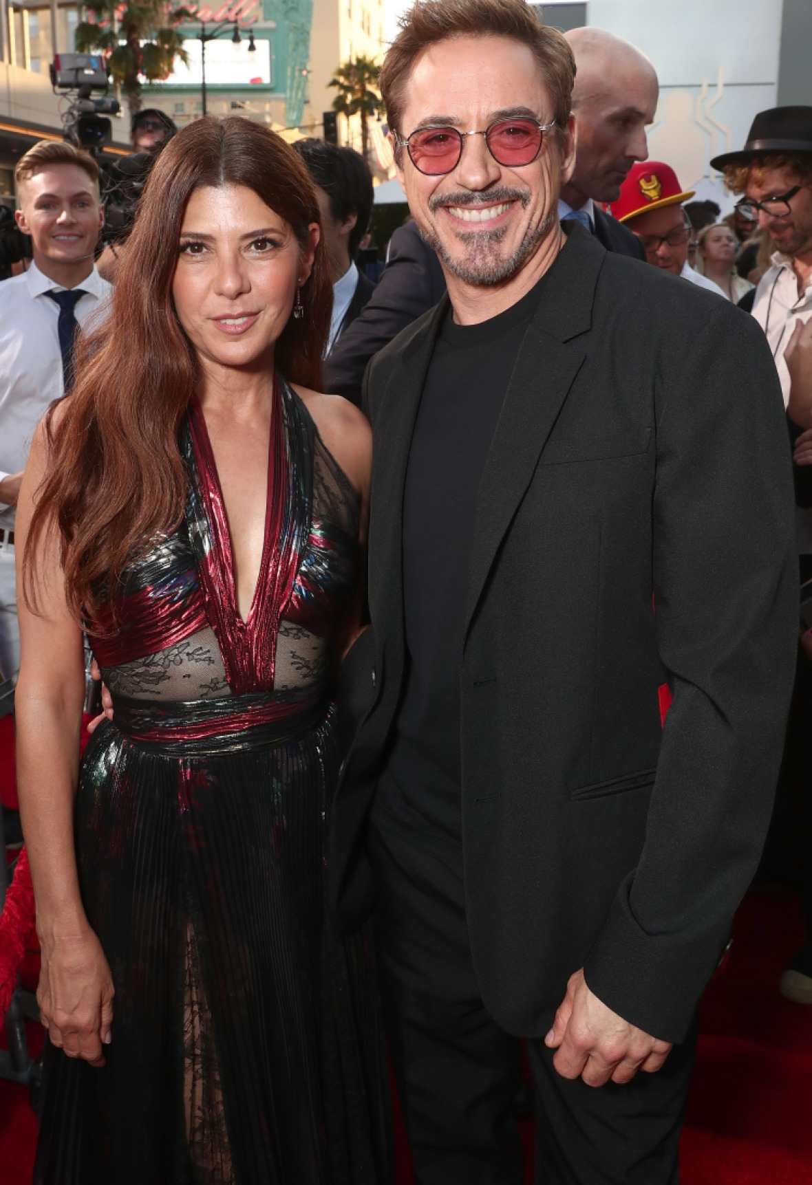 marisa tomei robert downey jr getty images