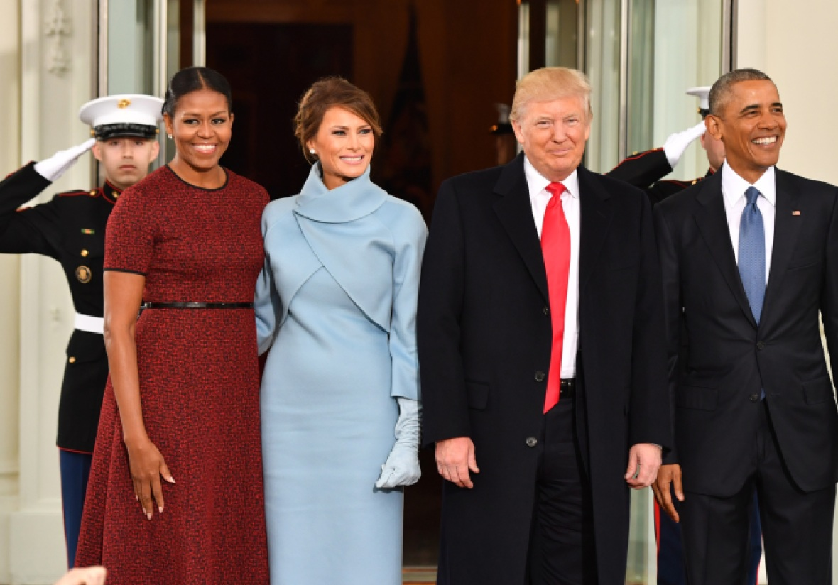 michelle obama melania trump getty images