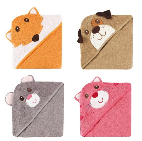 prime day 2017_closer - luvable friends animal face hooded woven terry baby towel