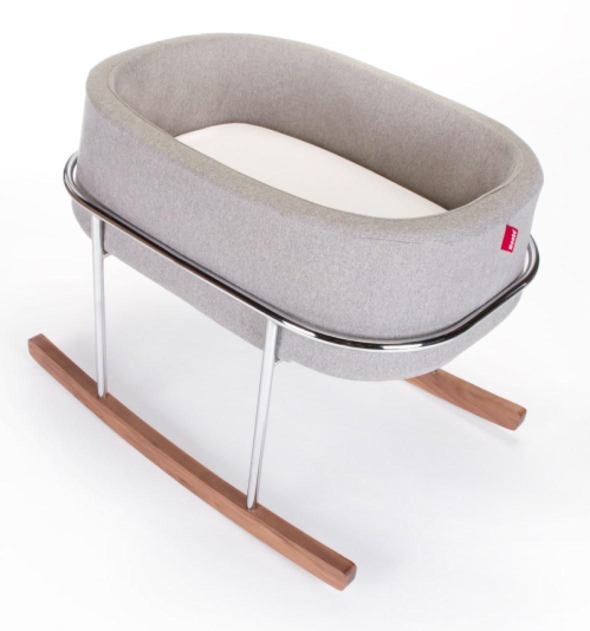 prime day 2017_closer - monte design rockwell bassinet modern (heather grey basket)