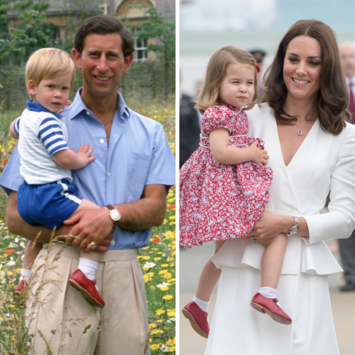 princess charlotte and prince harry in the same shoes getty