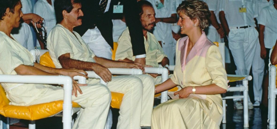 princess diana aids patients - getty