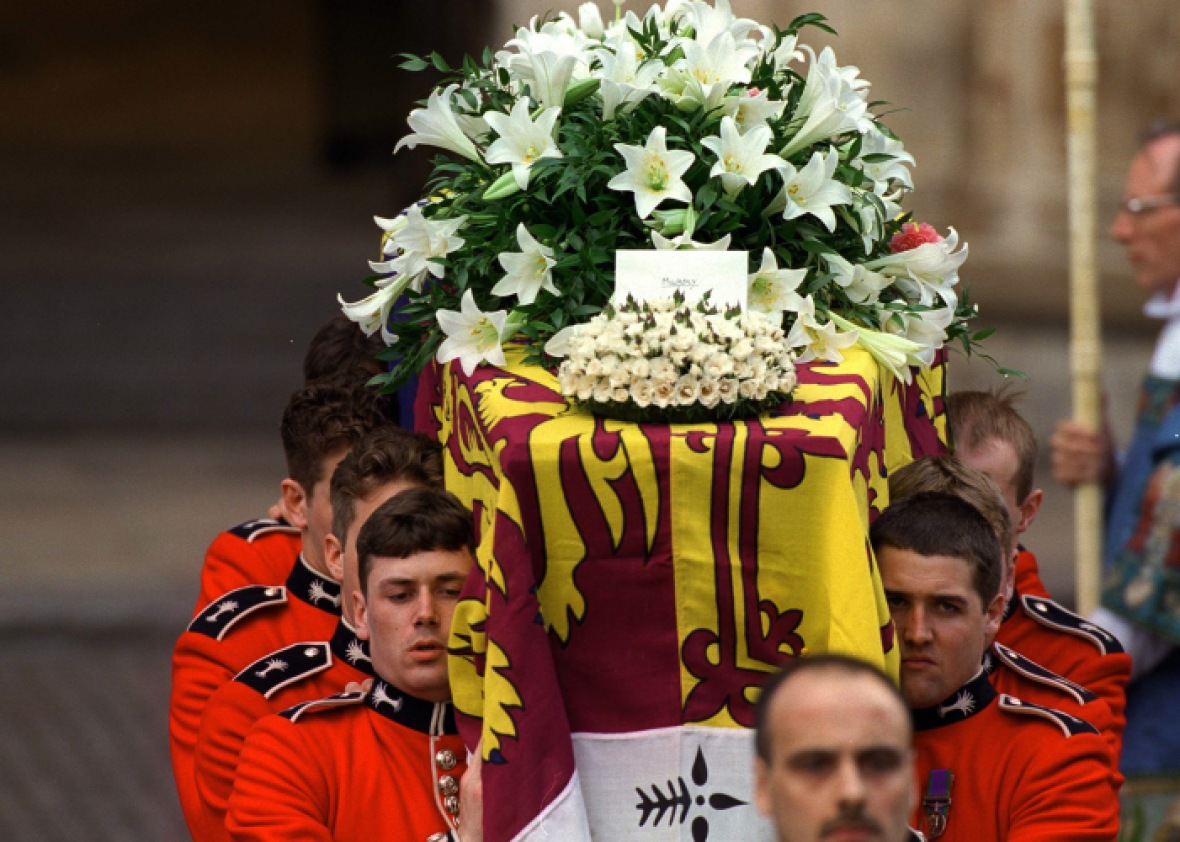 princess diana coffin