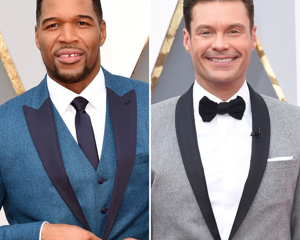 michael strahan ryan seacrest getty images