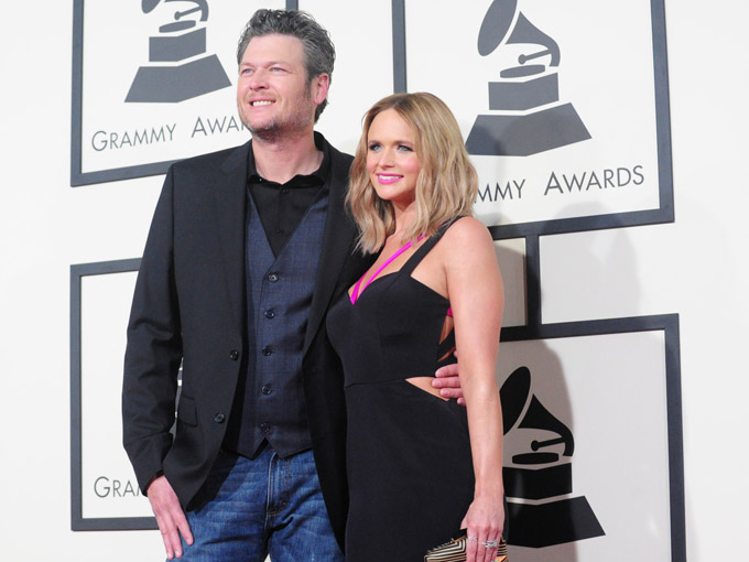 blake shelton and miranda lambert getty images