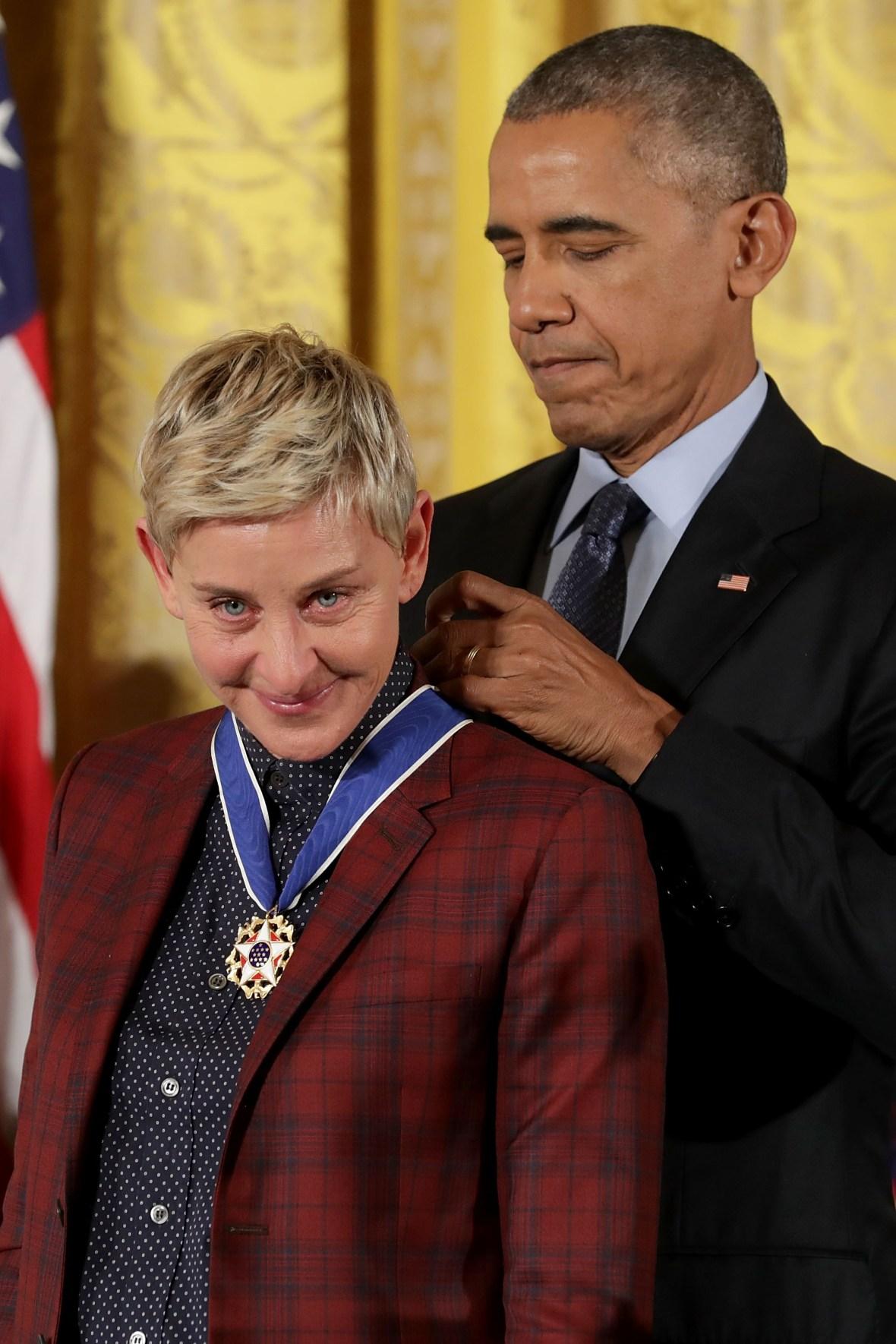 ellen degeneres presidential medal of freedom getty images