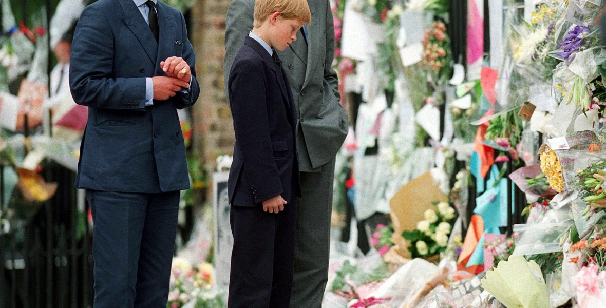 princess diana funeral prince charles prince william prince harry