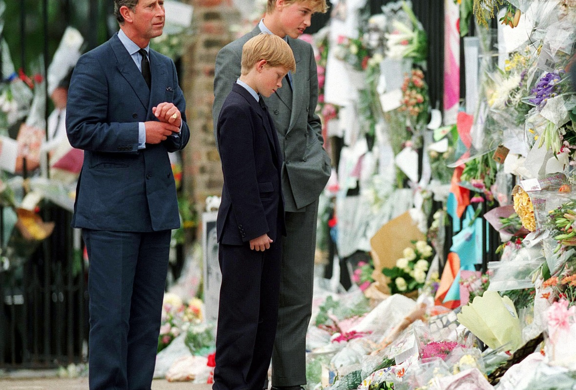 princess diana funeral prince charles prince william prince harry