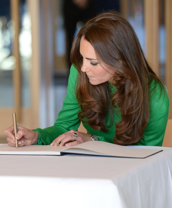 kate middleton autograph getty images