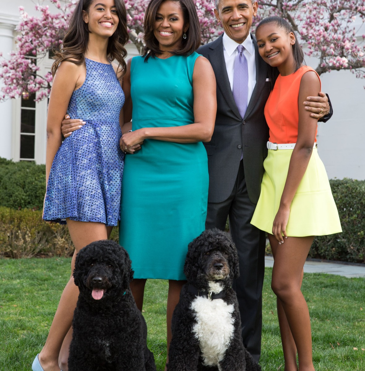 obama family getty images