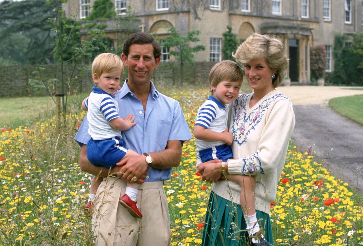 princess diana prince charles kids getty images
