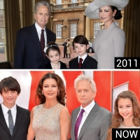 catherine-zeta-jones-celebrity-family-photo