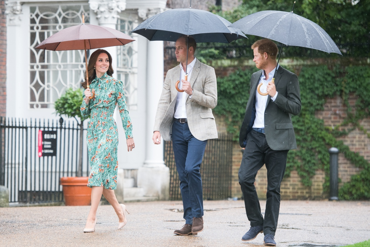 kate middleton, prince william, and prince harry getty images